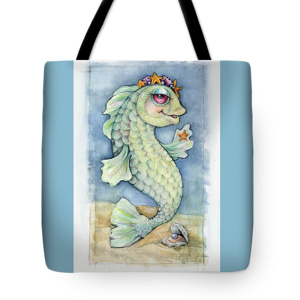 Tote Bag featuring the painting Sarafina Seabling by Lora Serra