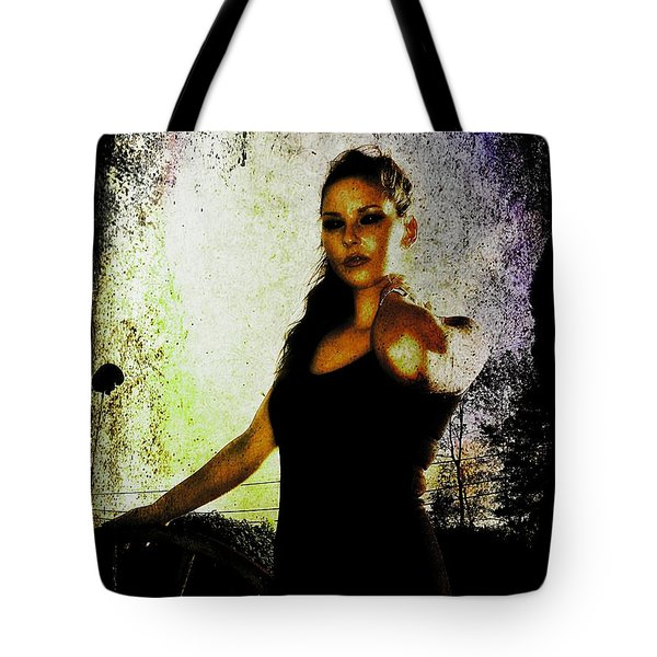 Tote Bag featuring the digital art Sarah 1 by Mark Baranowski