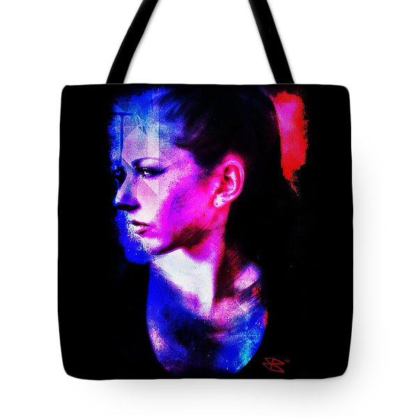 Tote Bag featuring the digital art Sarah 2 by Mark Baranowski