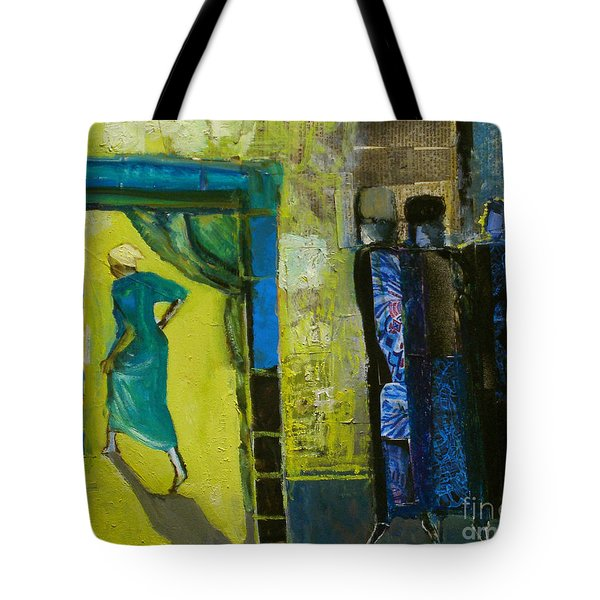 Sarah And The Three Angels Tote Bag by Richard Mcbee