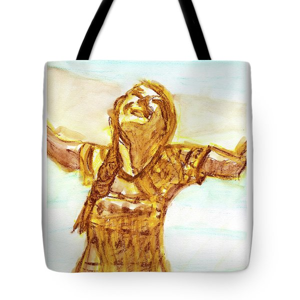 Sarah On The Beach Tote Bag
