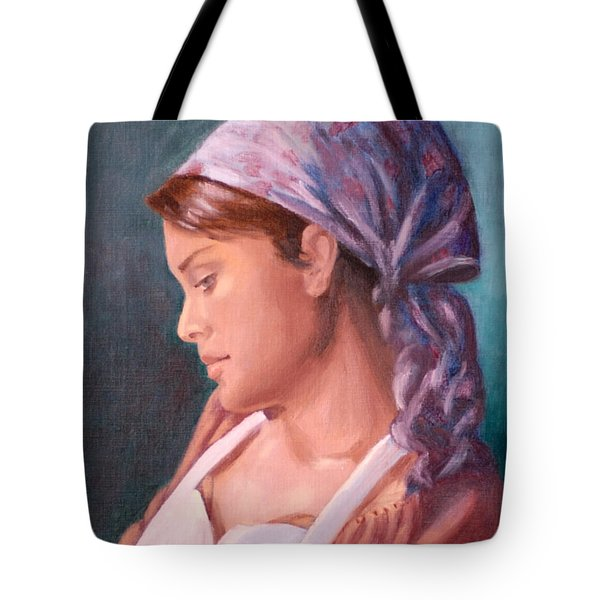 Sarah The Kitchen Maid  After Johnnie Liliedahl Tote Bag