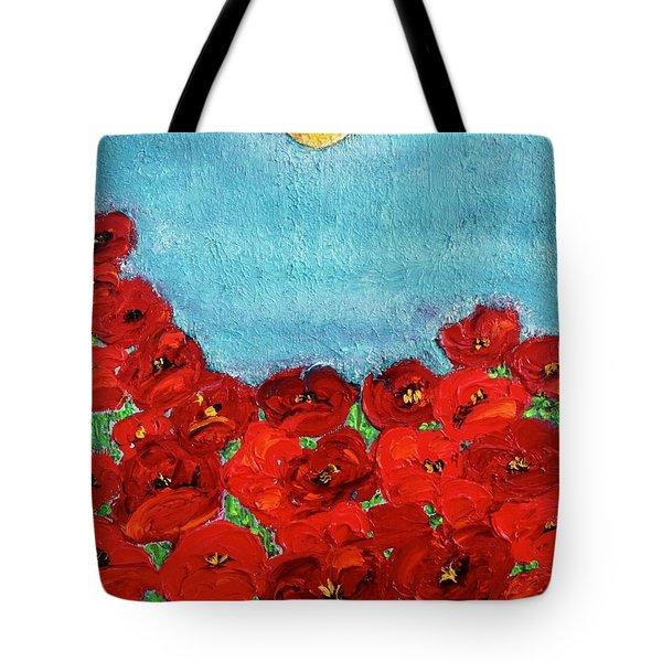 Sarah's Poppies Tote Bag