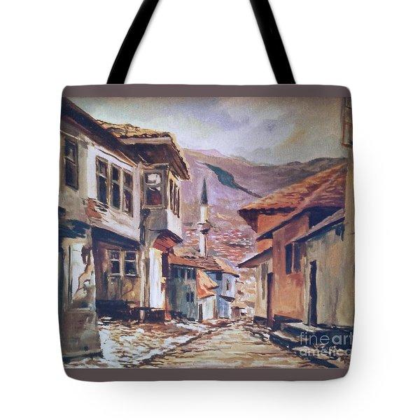 Sarajevo Old Town Tote Bag