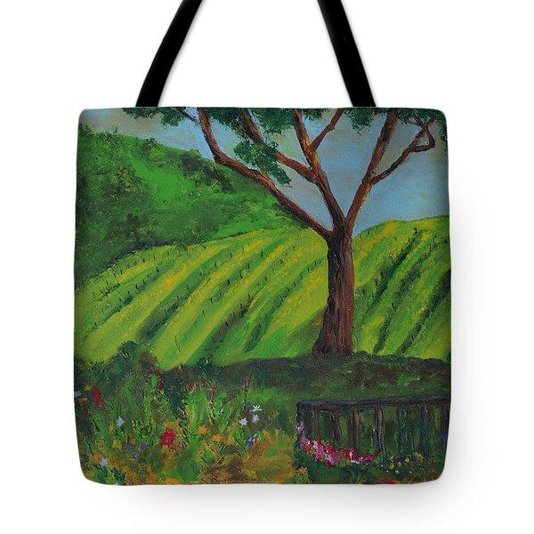 Saratoga Hills Tote Bag by Haleh Mahbod