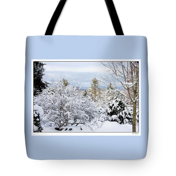 Saratoga Winter Scene Tote Bag
