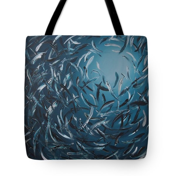 Sardines Ball Tote Bag by Lilu Lilu