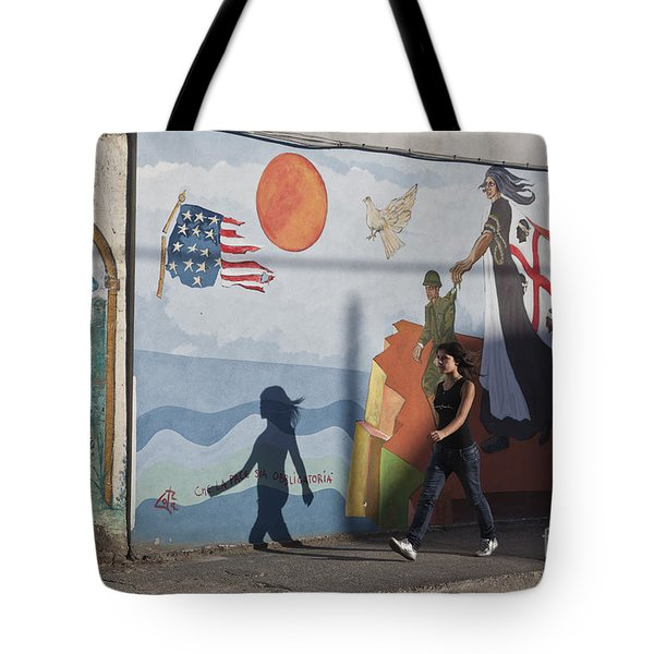 Tote Bag featuring the photograph Sardinia Wall Painting  by Juergen Held