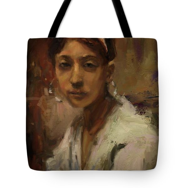 Sargent Study Number 1 Capri Girl Tote Bag by Brian Kardell