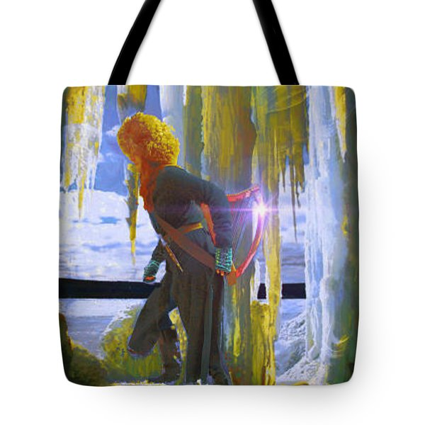 Tote Bag featuring the photograph Sarkis Passes Through The Ice Curtain by Anastasia Savage Ealy