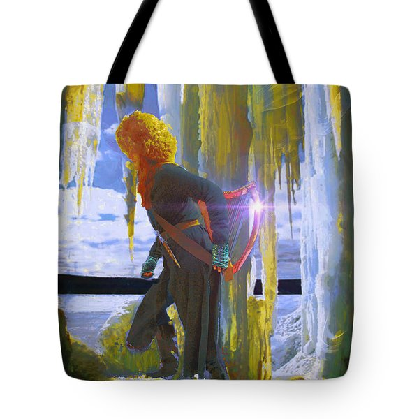 Tote Bag featuring the photograph Sarkis Passes Through The Ice Curtain II by Anastasia Savage Ealy