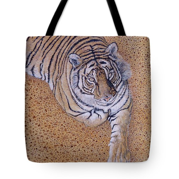 Tote Bag featuring the painting Sasha by Tom Roderick