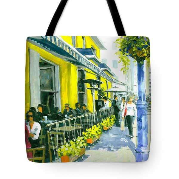 Tote Bag featuring the painting Sassafraz by Michael Swanson