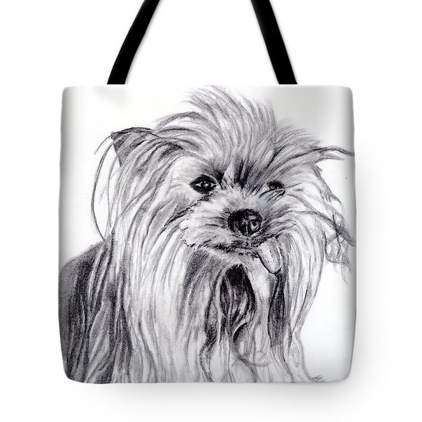 Yorkie Lady Tote Bag by Beverly Johnson