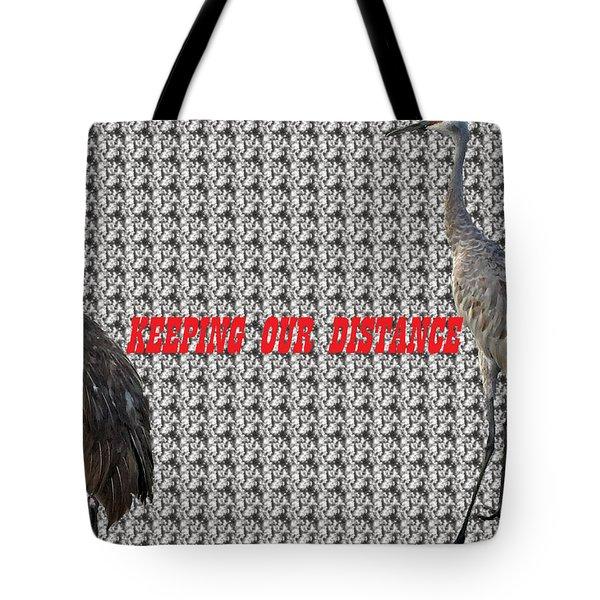 Sassy Sandhil Cranes Tote Bag