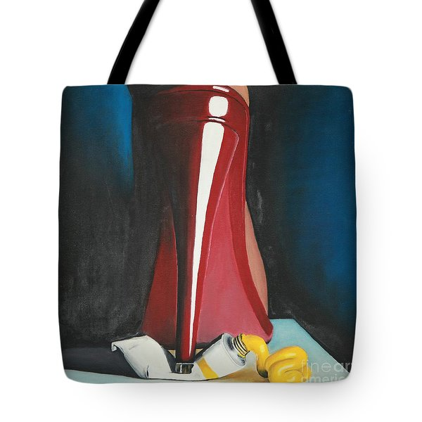 Tote Bag featuring the painting Sassy Shoe by Jacqueline Athmann