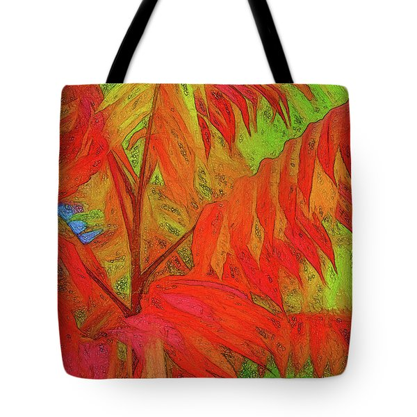 Tote Bag featuring the digital art Sassyfras by Terry Cork