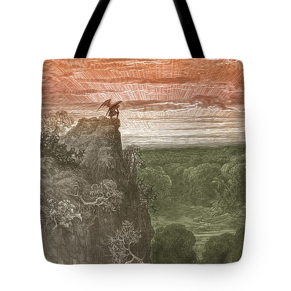 Satan, By Dore Tote Bag by Photo Researchers