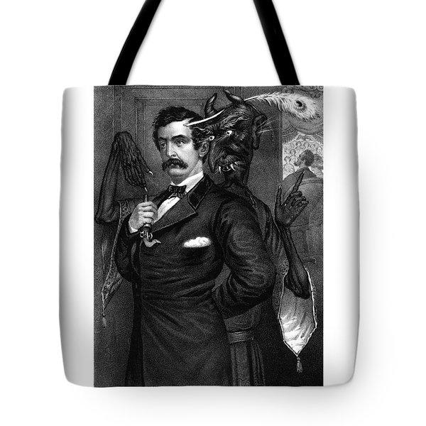 Satan Tempting John Wilkes Booth Tote Bag