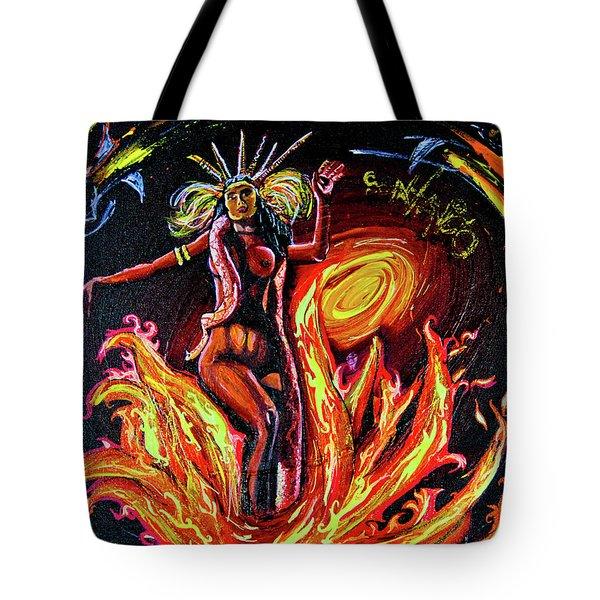 Tote Bag featuring the painting Satanico Pandemonium by eVol i
