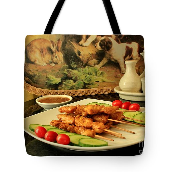 Satay Chicken Tote Bag