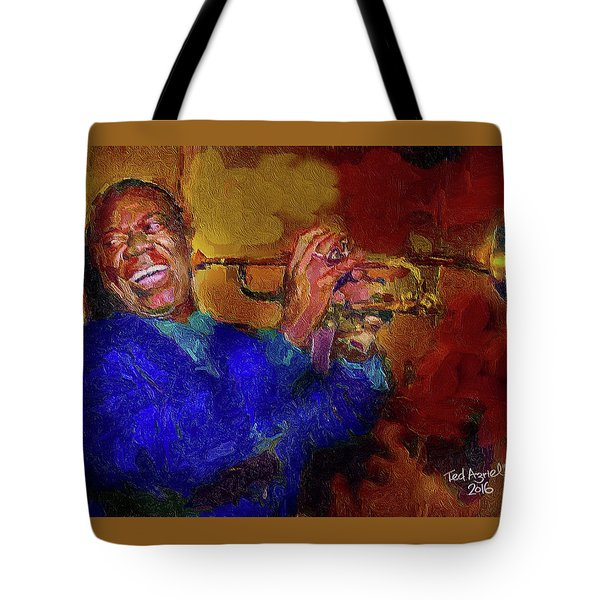 Satchmo Tote Bag by Ted Azriel