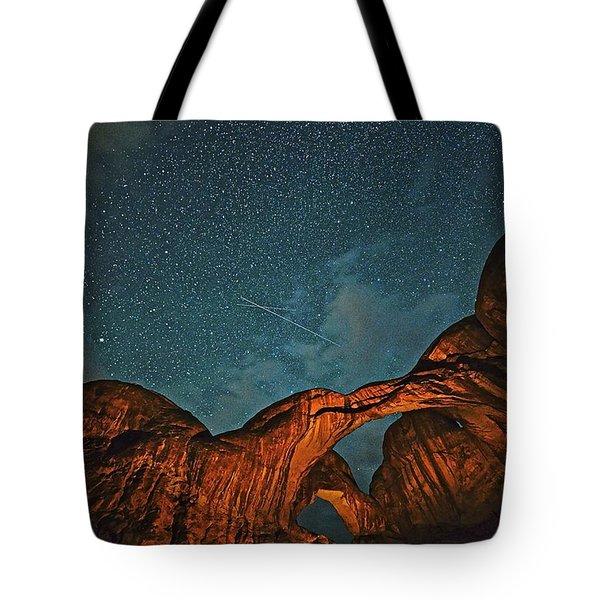 Satellites Crossing In The Night Tote Bag