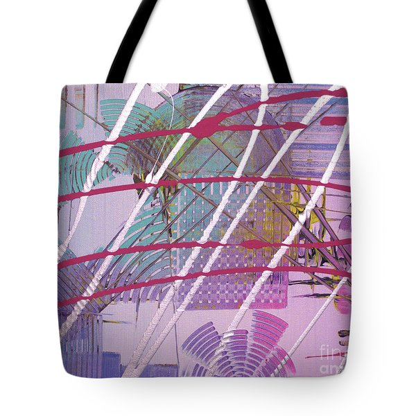 Tote Bag featuring the painting Satellites by Melissa Goodrich
