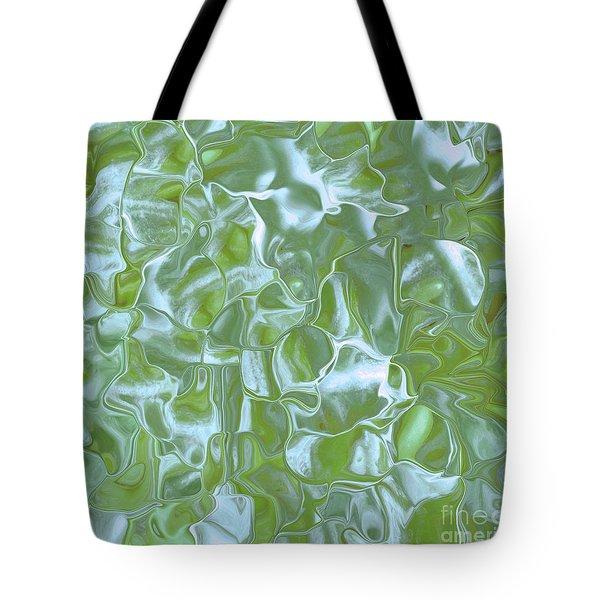 Satin Blue Green  Tote Bag