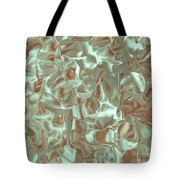 Satin Mint Rust Tote Bag