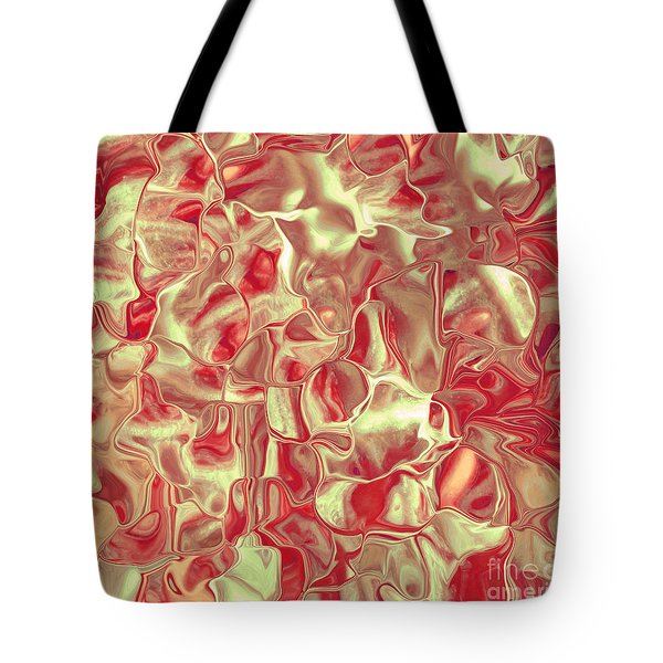Satin Red Brown Tote Bag