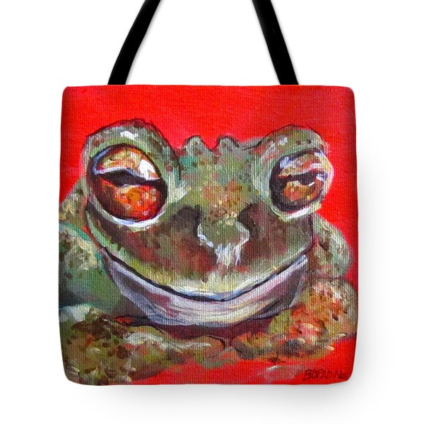 Satisfied Froggy  Tote Bag