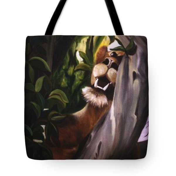 Tote Bag featuring the painting Satisfied by Renate Nadi Wesley