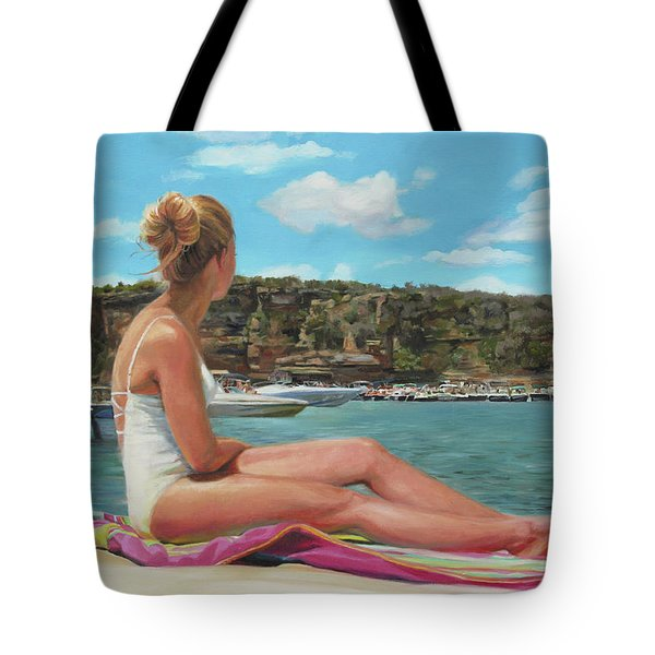 Saturday At The Lake Tote Bag