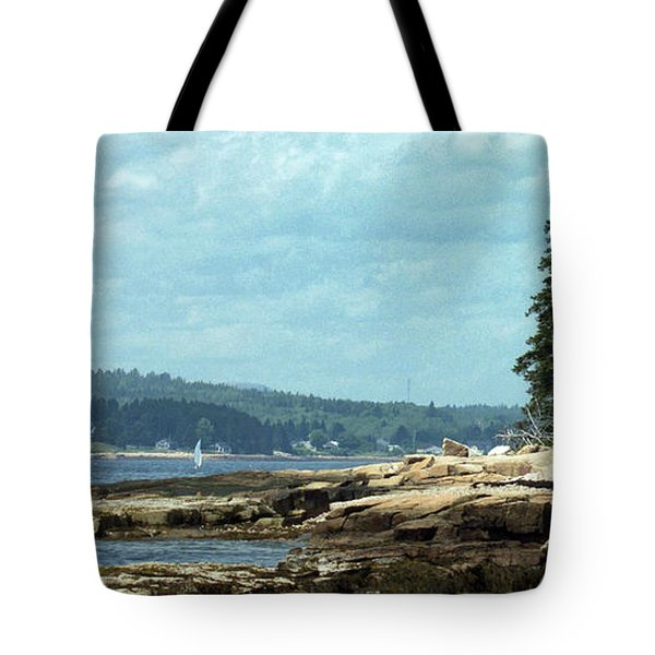 Saturday At Winter Harbor Tote Bag