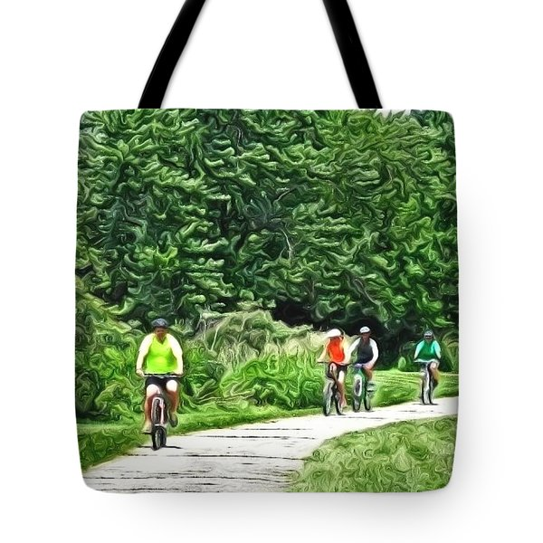 Saturday Bike Ride Tote Bag