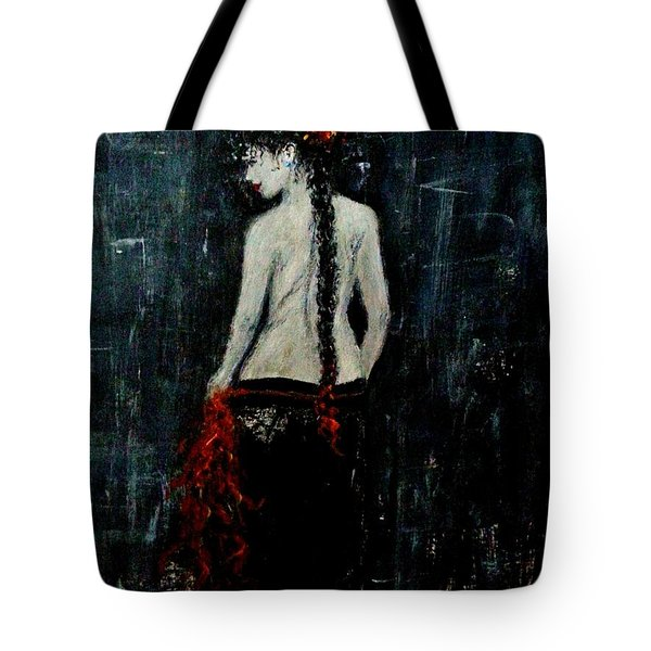 Tote Bag featuring the painting Saturday Evening  by Cristina Mihailescu