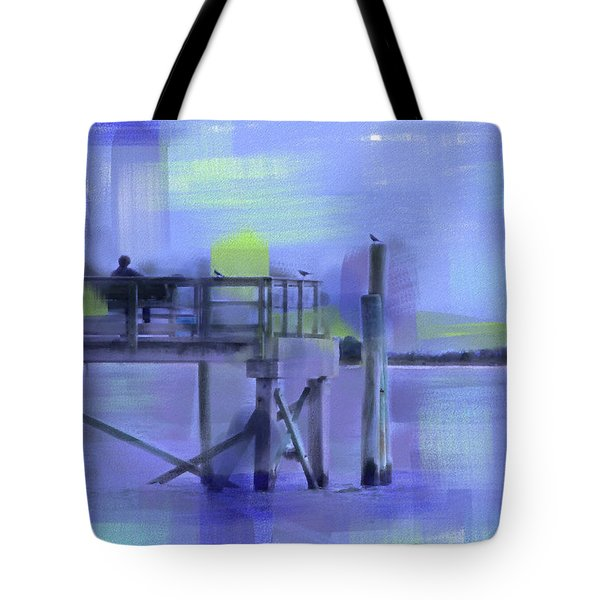 Tote Bag featuring the digital art Saturday Idyll by Gina Harrison