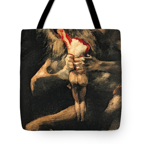 Saturn Devouring One Of His Children  Tote Bag by Goya