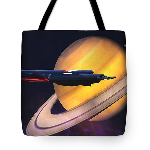 Saturn Visit Tote Bag