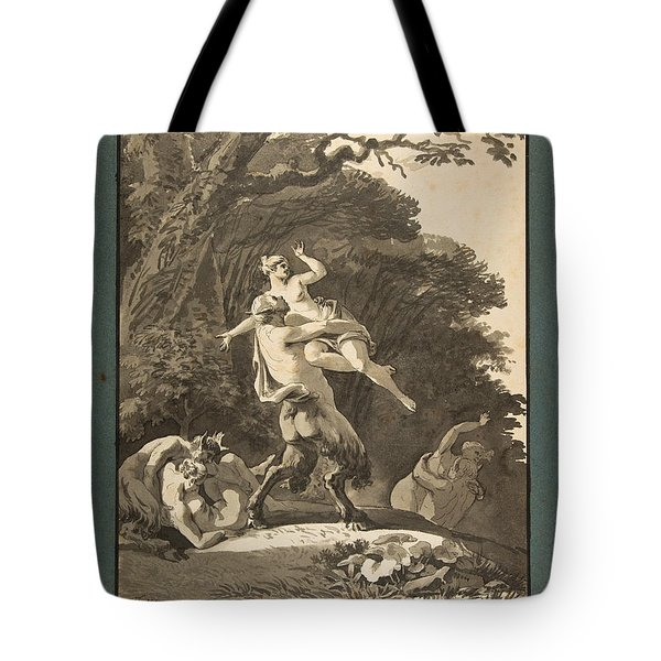 Satyrs Abducting Nymphs Tote Bag
