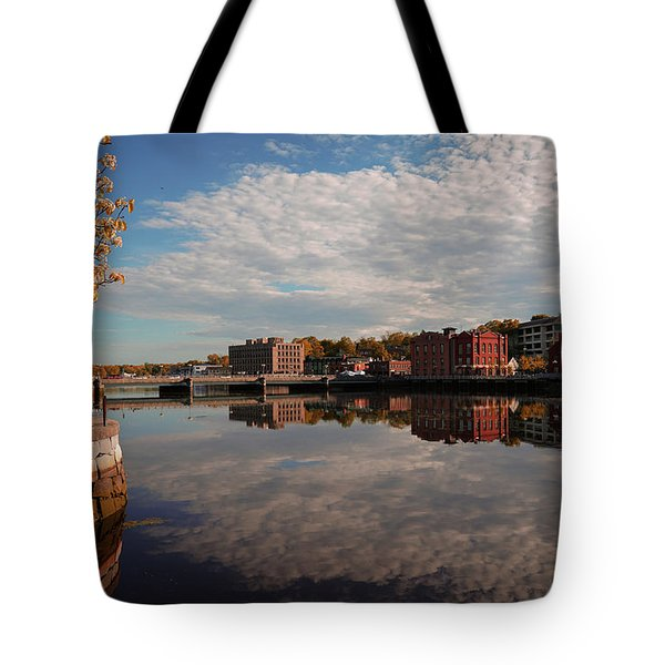 Tote Bag featuring the photograph Saugatuck River - Westport by Michael Hope