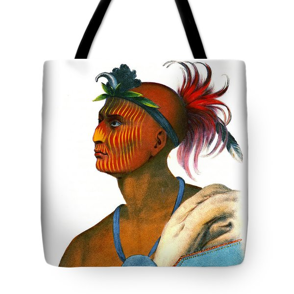 Tote Bag featuring the photograph Sauk Warrior 1842 by Padre Art