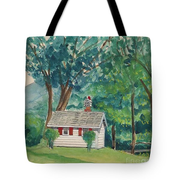 Sauna At Murray Hollow Tote Bag by Fred Jinkins