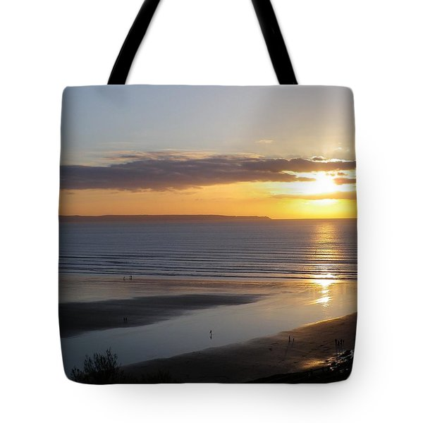 Saunton Sands Sunset Tote Bag by Richard Brookes
