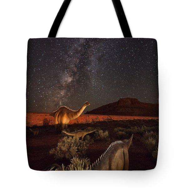 Sauropods At Play Tote Bag