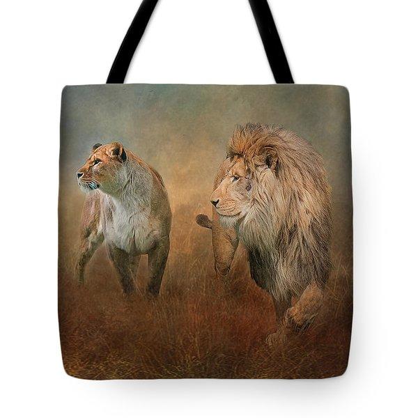Savanna Lions Tote Bag