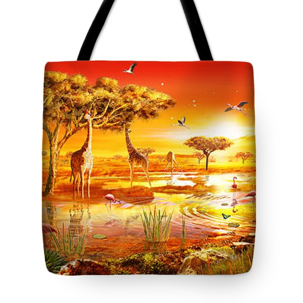 Savanna Sundown Tote Bag