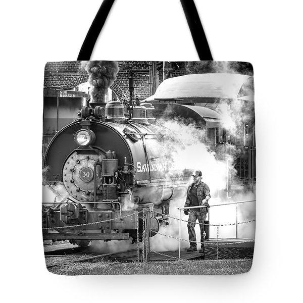 Savannah Central Steam Locomotive Tote Bag