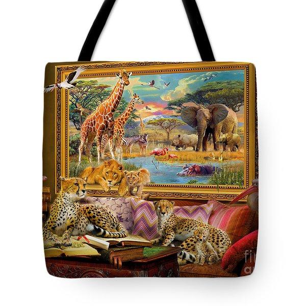 Savannah Coming To Life Tote Bag